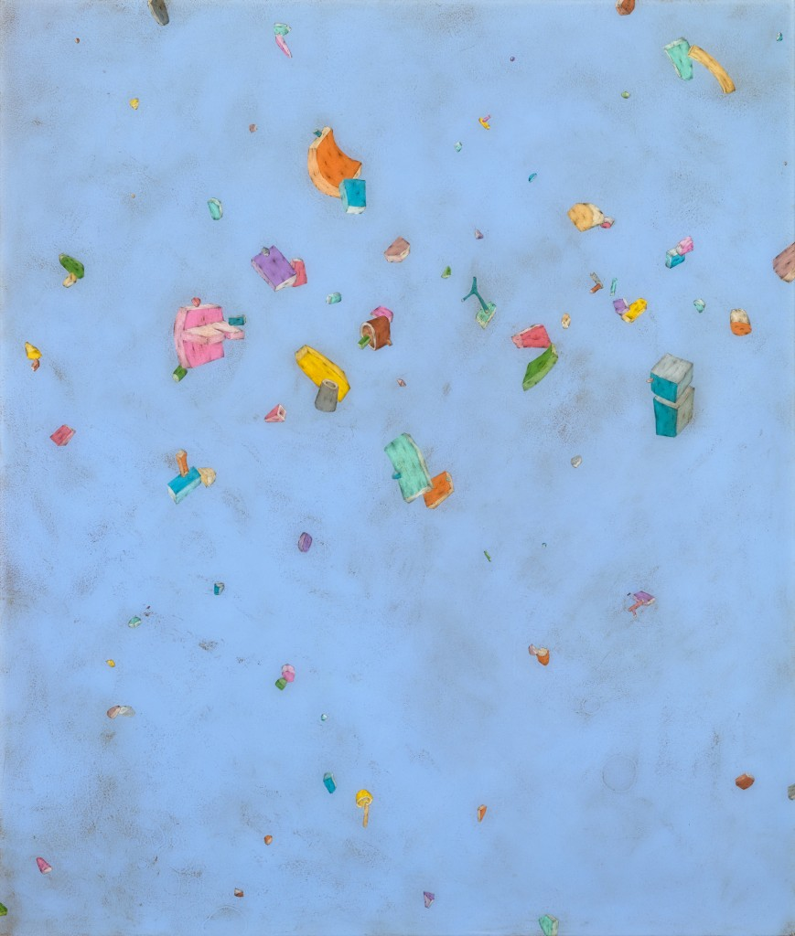 Allow More Time, 2015, acrylic, graphite and resin on panel, 21 3/4 x 18 1/2 inches