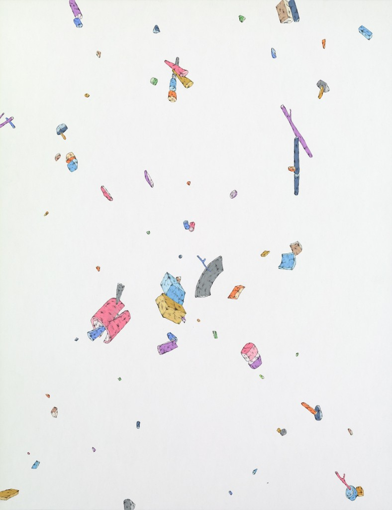 Blake Haygood, Everything Is Clear, 2014, gouache and graphite on paper, 26 x 20 inches