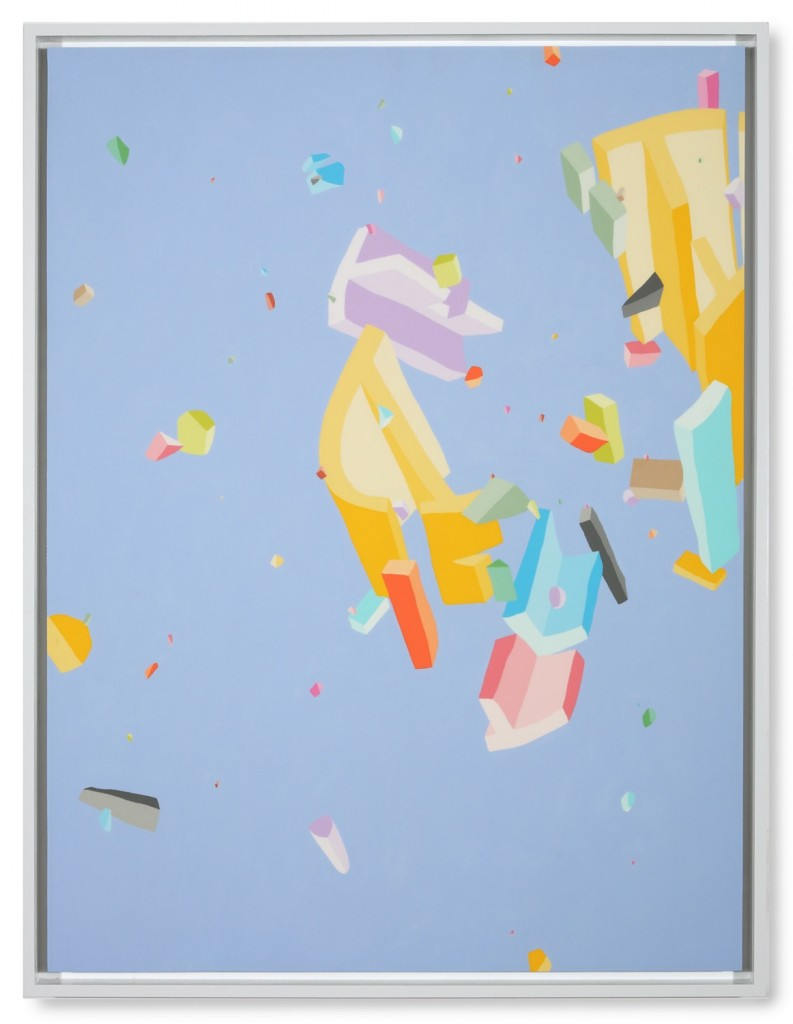 Blake Haygood, We Plan For This, 2013, acrylic on panel, 41.75 x 31.75 inches