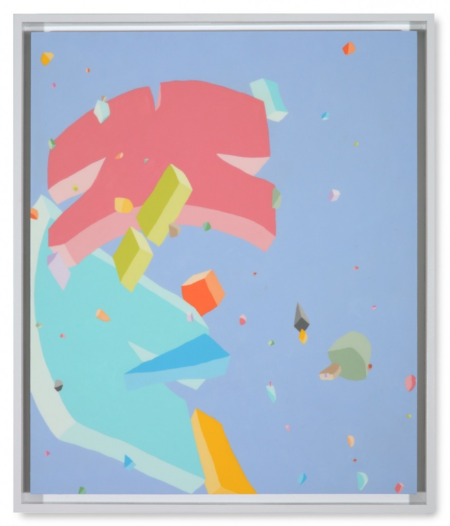 Blake Haygood, Messaging The Expectations, 2013, acrylic on panel, 25.75 x 21.75 inches