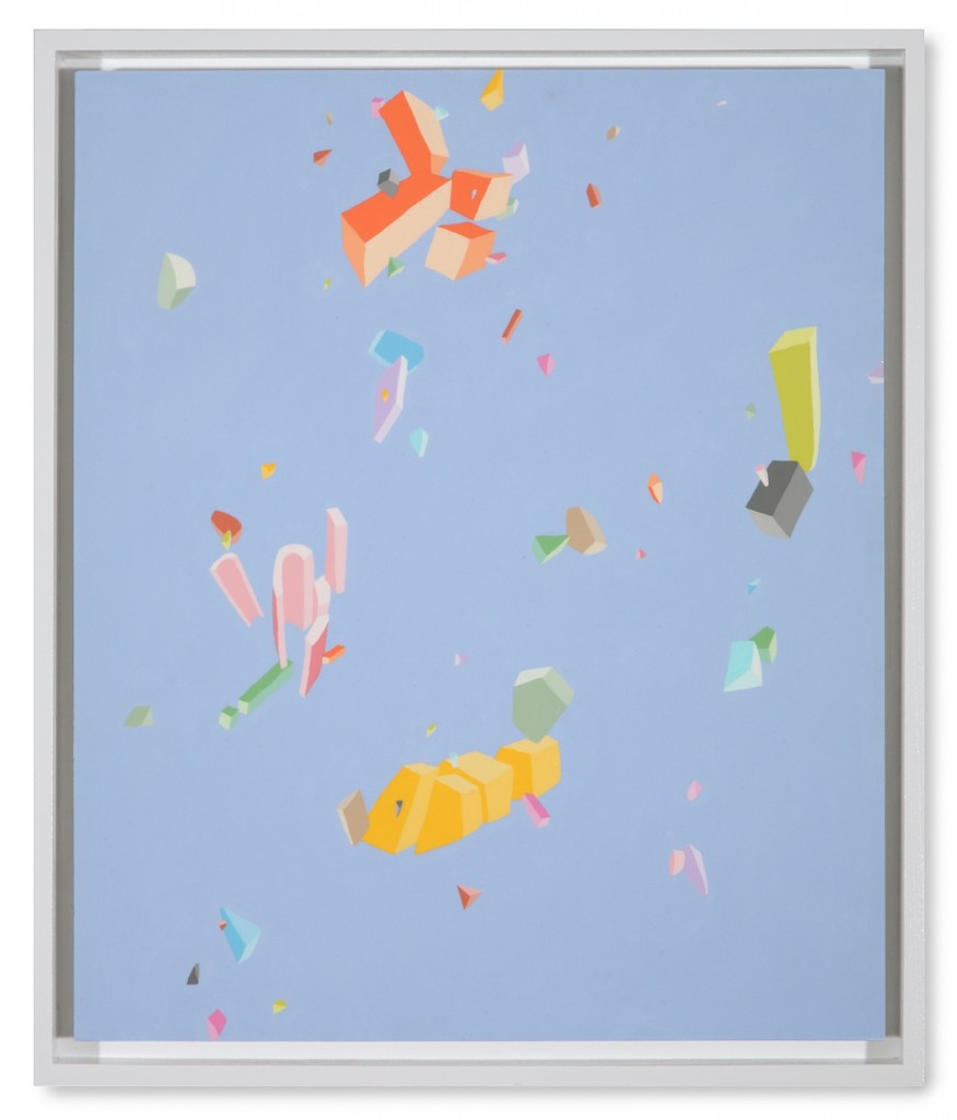 Blake Haygood, The Results, 2013, acrylic on panel, 25.75 x 21.75 inches